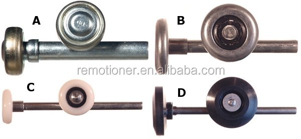 2'' or 3'' garage door nylon roller with stem and bearing