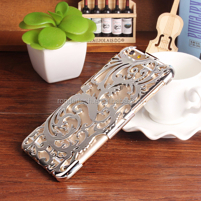 Fashion heat Radiator case for iphone5/5s hollow design gold plated