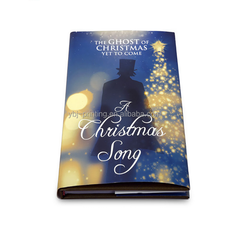 Hot sale high quality cheap bulk hardback customized christmas song book wholesale