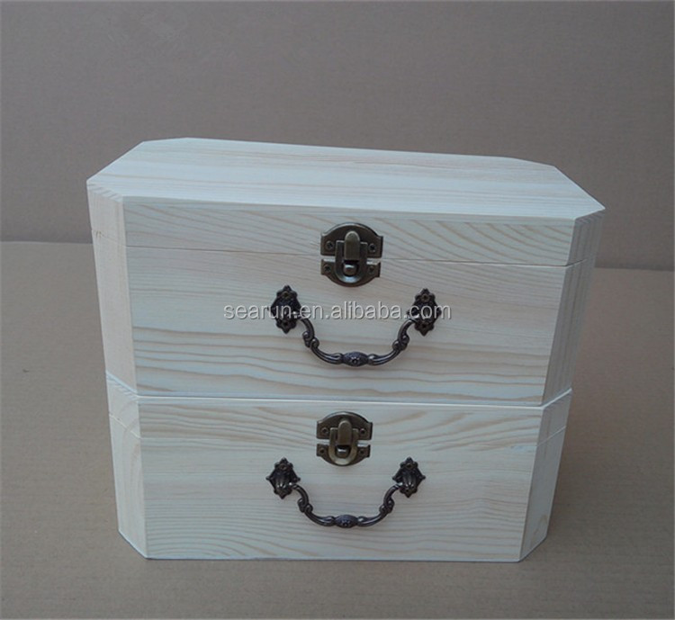 Octagon Wooden Packaging Box05