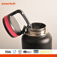 Everich Insulated Stainless Steel Wide Mouth Carabiner Cap Water Bottle