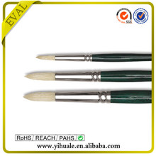 Professional quality artist oil brush mixed animal