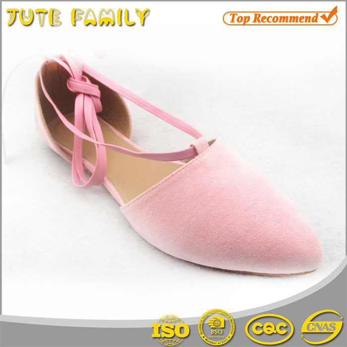 2016 High quality new model ladies leather flat shoes