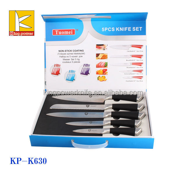 Factory directly supply magnetic box swiss line kitchen stainless steel knife set