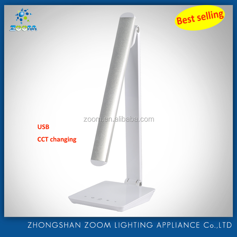 New design led book reading lamp with USB port, color temperature changed and portable body