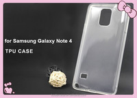 Popular soft TPU cell phone case for Samsung Galaxy Note 4