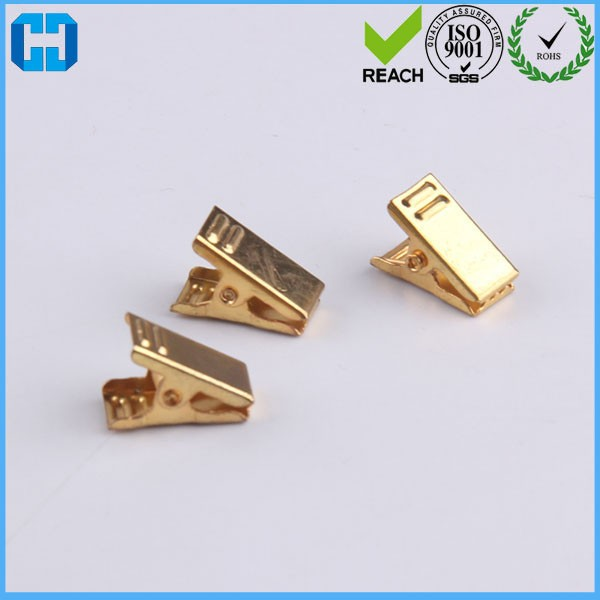 Gold Color Metal Swivel Badge ID Clip Badge Clips