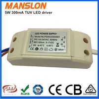 5W led driver power supply 350mA Constant Current LED driver high quality low price