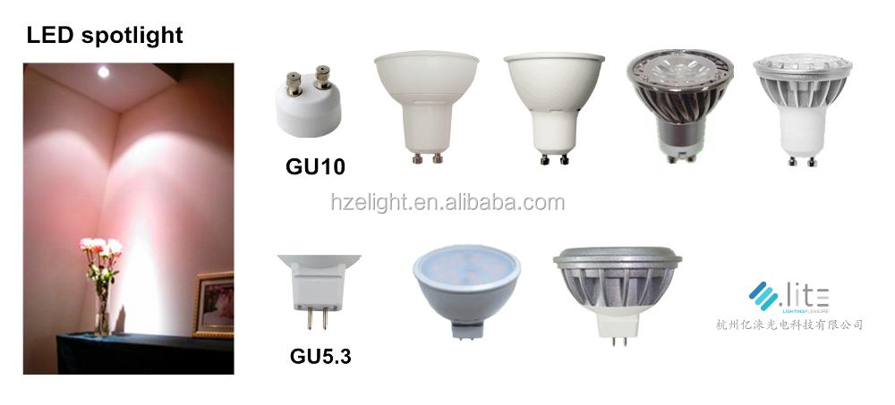7w Led Spot Light 3000k / 4000k / 6000k Celling Led Bulbs Dimmable ...