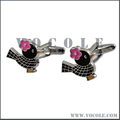 Colorful Paint Birdie Stainless Steel Customized Cufflink