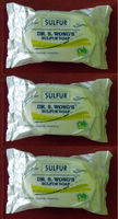 3 Bars Dr. S. Wong's Sulfur Soap Fungi, Germs and Parasites