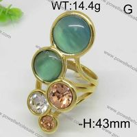 925 sterling silver fashion knuckle ring jewelry green color stone and Fashion new product