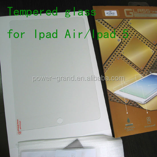 Top quality 9H Tempered Glass screen protector film for Apple iPad 9.7