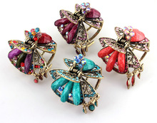 Fashion vintage butterfly hairclaws Resin statement hairclaws hair jewelry mix colors HP006