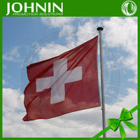 strong polyester material good selling high quality normal size swiss national flag