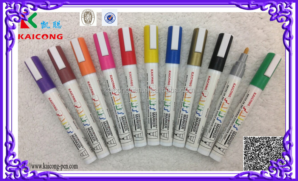 Import ink Japanese nib Valve action Permanent Acylic paint marker pen