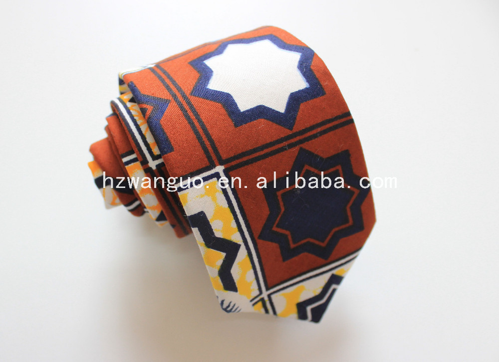 100% cotton printed wholesale new design mens cheap ties