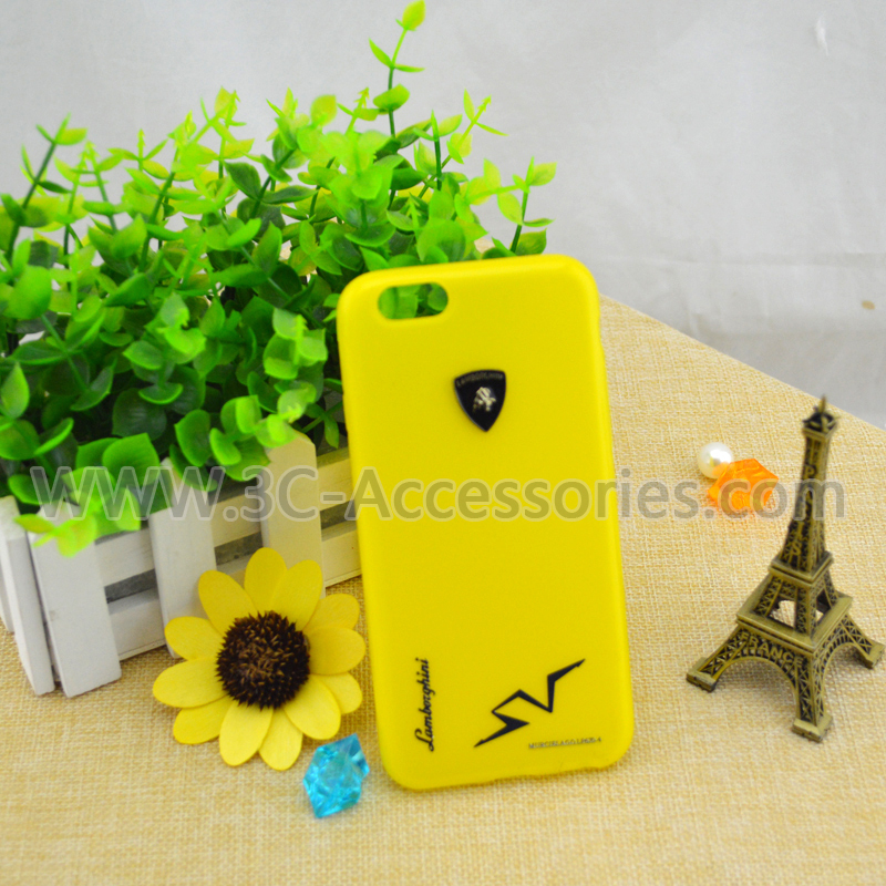 Matte Color Housing for Phone 6 , Pure Yellow Back Housing Cover for Phone 6