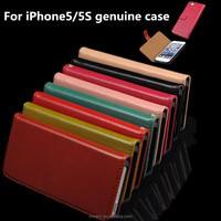 High quality genuine leather smartphone cases for apple iPhone5/5S used mobile phones hot new products