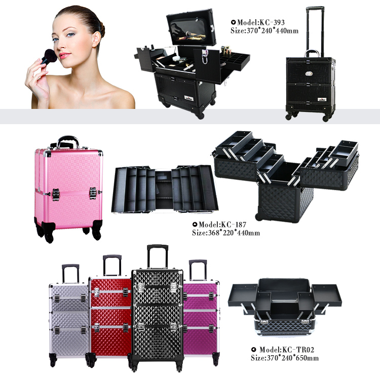 KONCAI Big Space Metal Clasp For Bags Aluminum Makeup Trolley Case Case