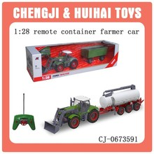 Funny plastic remote control toy tractor for child
