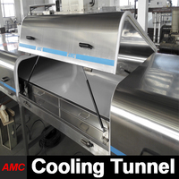Machinery Price Top 10 Stainless Steel mobile food carts With Cooling Tunnel