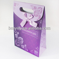 Fashion purple color bag printing and packaging bags printing