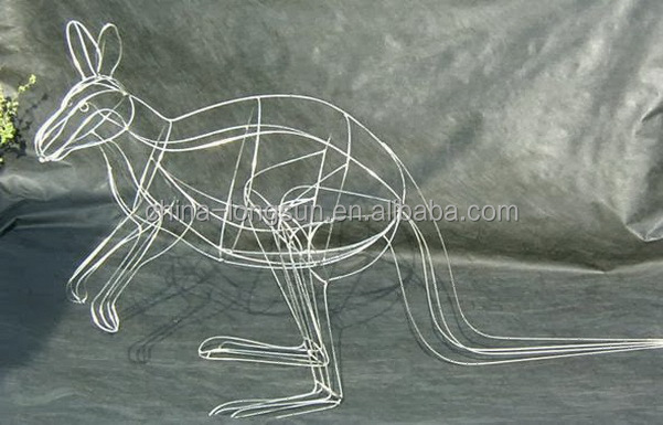 WS16033102 guangzhou manufacture wholesale custom size handmade steel artificial animal frame