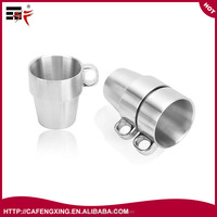 Stainless Steel Insulated Cups Coffee Cups, Double Layer Heat Insulation, Set of 6