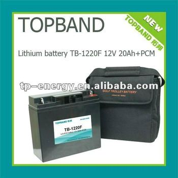 2012 TOPBAND!!! Electric golf trolley Battery lithium 12V