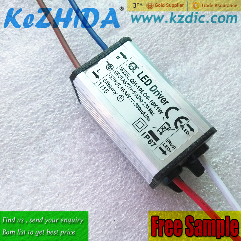 CE LED Driver Waterproof IP67 Constant current Power Supply Lighting Transformer 10 Watt 300mA 18 to 32V