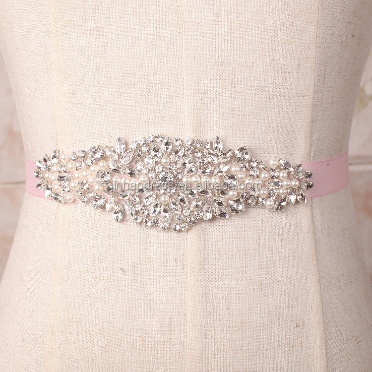 new bridal fashion diamond chain belt and bodice rhinestone applique