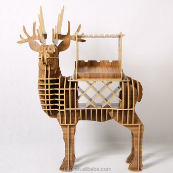Christmas decoration European deer shape DIY wine table