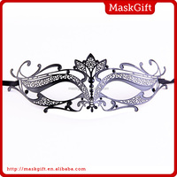 New design colorful stone decorative metal mask for lady