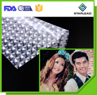 Wedding photo 3D Laminating Film, Colored multi lens film, Decoration 3D film