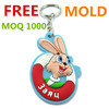 FREE MOLD promotional 3d pvc keychain cheap custom rubber key chain