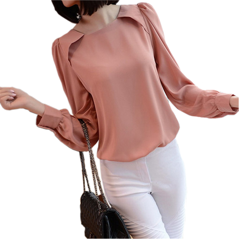 bc86f38f28e Get Quotations · Black Pink Puff Sleeve Elegant Chiffon Blouse Ladies  Office Shirt Women Blouses 2015 Summer Casual Tops