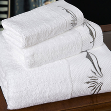 Hotel Dobby border Towels with embroidery(SQNCT201500508)