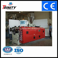 Trinity single/twin Screw Extruder, PVC/PP/PE Extrusion Machine, Plastic sheet/panel/film profile Factory Direct China supplier