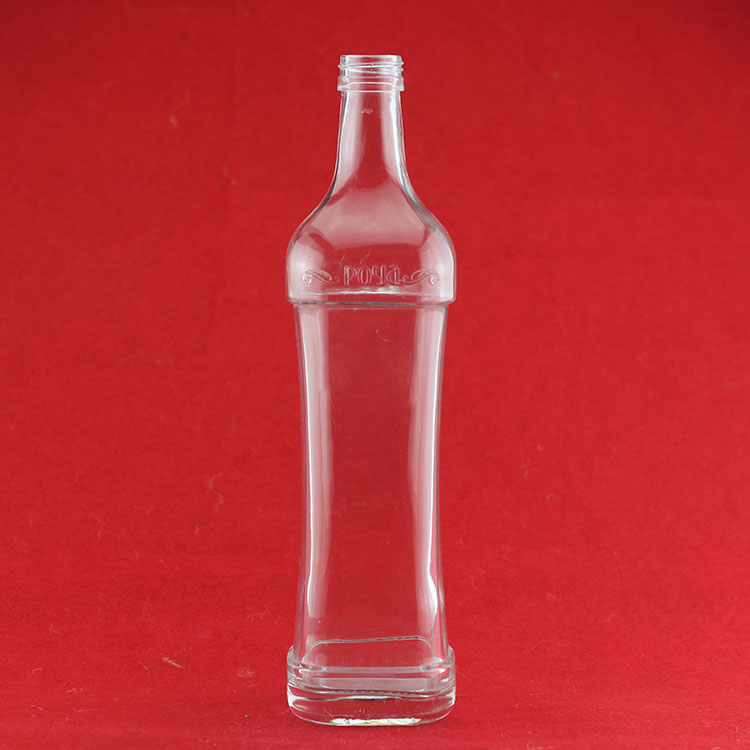 cork sealing tequlia glass bottle custom bule printing bottle antique french liquor bottles