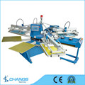 SPE Series 2-8 color Automatic fabric/slipper/nonwoven/knitting material/t shirt Screen Printing machine