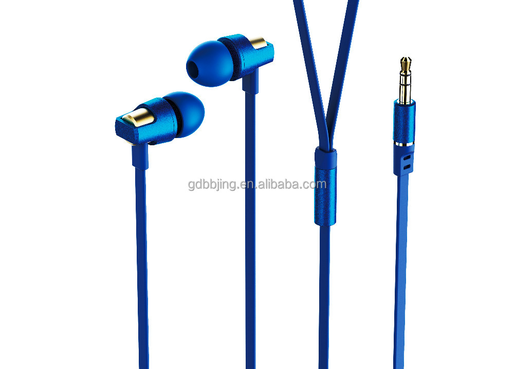 Wholesale Wired metal earphone 3.5MM super bass Earphone In-Ear Sports earhook headset for cellphone, MP3,MP4, pad