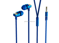 Wholesale Wired metal earphone 3.5MM super bass Earphone In-Ear Sports earhook headset for cellphone, MP3,MP4, Ipad
