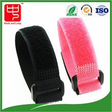 SGS approved nylon hook and loop battery strap with buckle