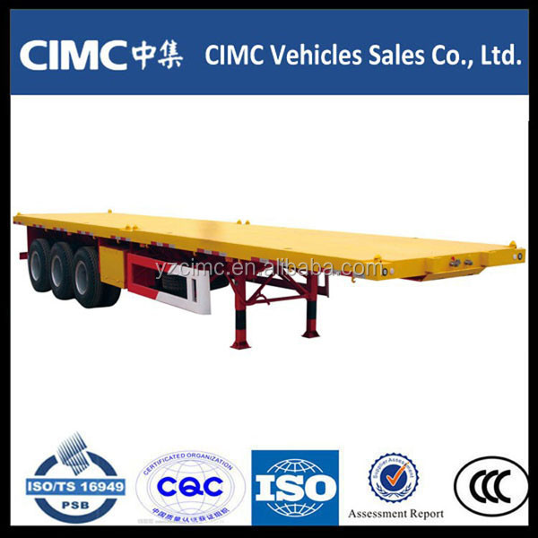 Widely Used Double Deck /Flatbed Trailers with Twist Lock for 20ft 40ft