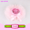 Wholesale cotton toddler solid pale pink shorts pink bowknot diaper cover dressy newborn tutu bloomer