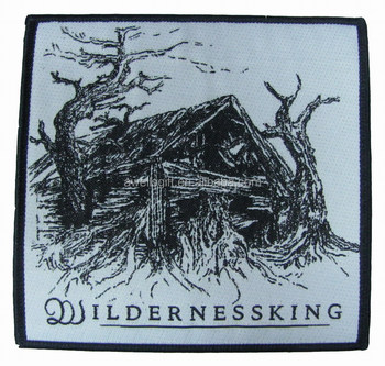 WILLDERNESSKING BLACK WOVEN PATCH WITH IRON BACKING