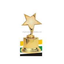 Wholesale gold Metal star trophy with metal gold base