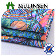 Mulinsen Textile Cheap Price Knitted 96% Polyester 4% Spandex Paper Printing Jacquard Bubble Fabric Dress Material