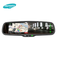 4.3 inch auto glass touch screen rearview mirror gps navigation with gps bluetooth camera